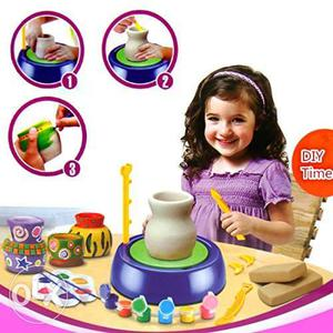 Pottery Wheel Game with Colors and Stencils, Creative