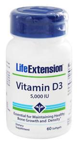 Life Extension Vitamin D IU, 60 Softgels