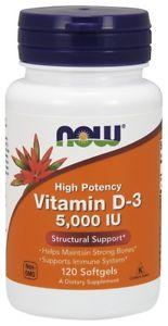 Now Foods Vitamin D IU, 120 Softgels