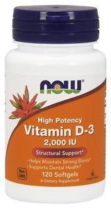 Now Foods, Vitamin D- IU, 120 Softgels