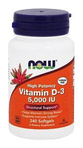 Now Foods Vitamin D- IU, 240 Softgels