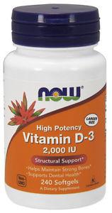 Now Foods Vitamin D IU, 240 Softgels