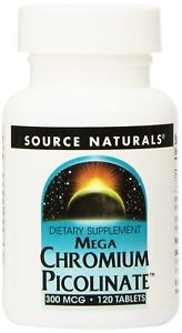 Source Naturals Mega Chromium Picolinate, 300mcg, 120