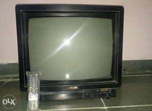 Black Onida CRT TV With Remote