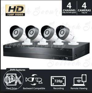 CCTV Camera package 4 camera + dvr set only Supply