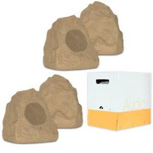 Theater Solutions 4R4S Outdoor Sandstone Rock 4 Speaker Set