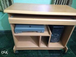 Computer table with draw system for key board,
