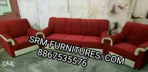 New branded luxurious sofa set with, 2 years warranty