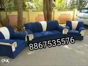 New branded luxurious sofa set with warranty