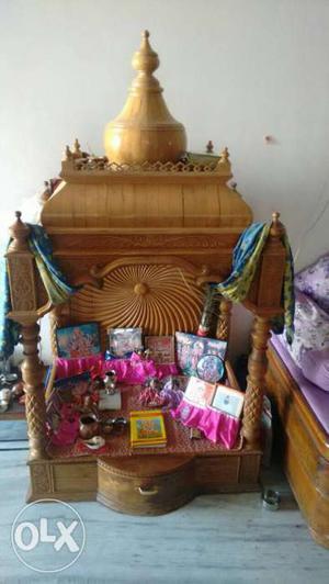 Sangwan pooja mandap (mandir). Pooja house, hand made.