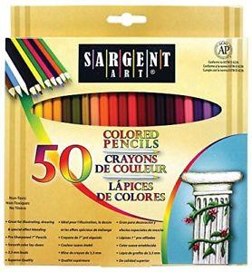 Sargent Art Premium Coloring Pencils, Pack of 50 Assorted