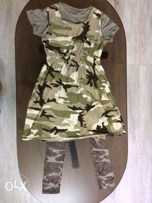 Used jersey fabric dress suitable for 10 year old girls