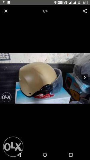 White And Black Half-face Helmet Screenshot