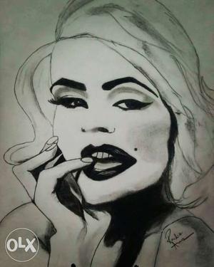 Woman Charcoal Sketch
