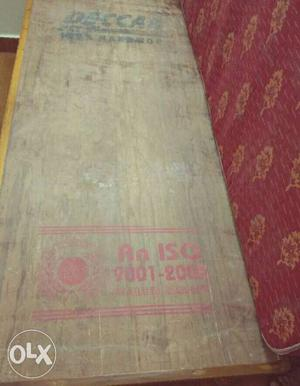 """Wooden single cot with mattress 2.5""""×6"""" in size"""