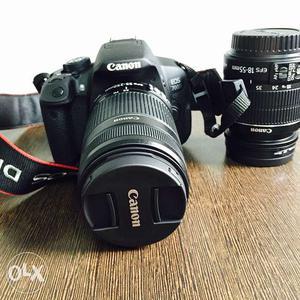 Black Canon EOS 700d DSLR Camera