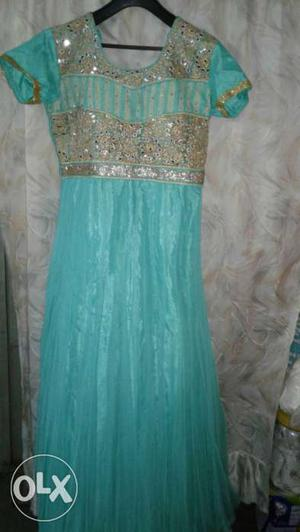 Brand new gown dress with diamonds work
