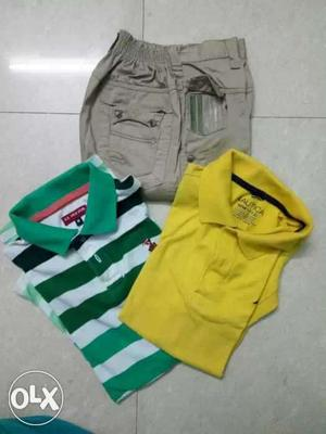 Cotton t shirt with cargo pant for 8 to 10 years