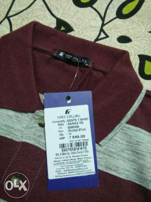 Polo Gents t-shirt. colour: Maroon size: Medium