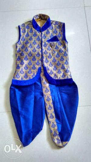 Sleeveless Jacket and Dhoti set for 3-4Years boys