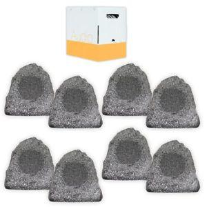 Theater Solutions 8R4G Outdoor Granite Rock 8 Speaker Set
