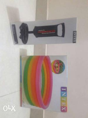 5 Kids can play.Brand new sealed pack.INTEX brand