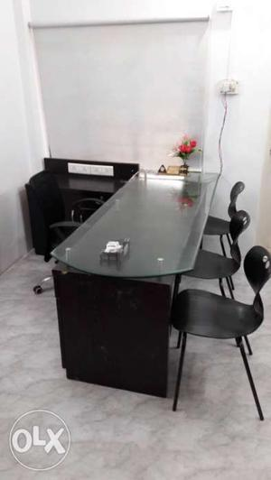 Director Office desk with Drawers and side Tables