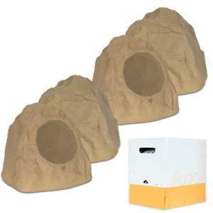 """Theater Solutions 4R8S Outdoor Sandstone 8"""" Rock 4 Speaker"""