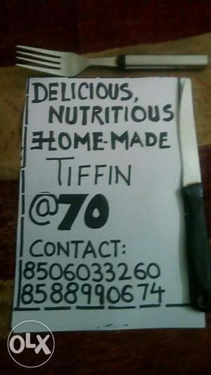 Delicious Nutritious Home Made Tiffin Signboard