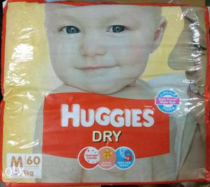 Huggies Dry Diapers 60 Diapers 5-11KG Size M