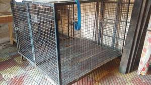 Iron cage for dogs. Can fit large size dog with