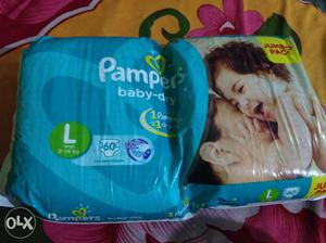 Pampers Baby Diapers - L 60 PIECES