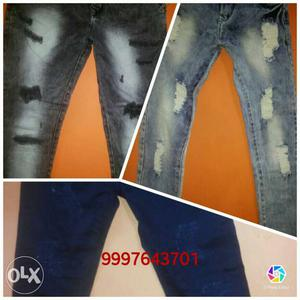 Premium quality branded damaged jeans check out