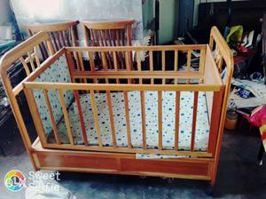 Movable crib with drawers & mosquito net for
