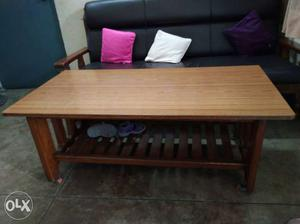 Original Teak Wood Five Seater Sofa With Teak