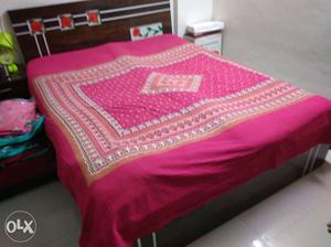 Queen size double bed with mattress,