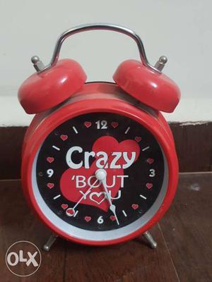 Red authentic archies alarm clock