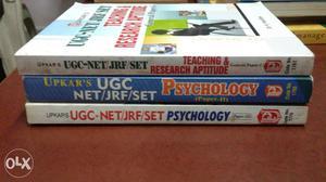 Set of three books for PSYCHOLOGY UGC NET/SET