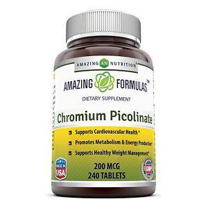 Amazing Nutrition Chromium Picolinate 200 Mcg 240 Tablets