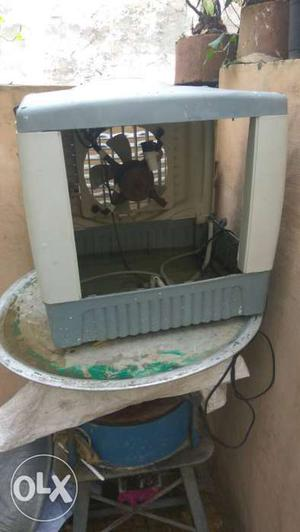 Gray And White Evaporative Air Cooler