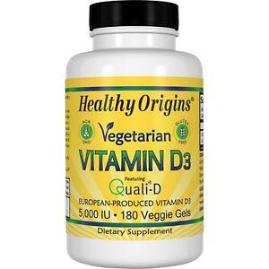 Healthy Origins, Vegetarian Vitamin D IU, 180 Veggie