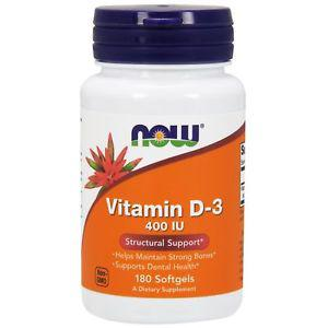 Now Foods, Vitamin D- IU, 180 Softgels NOW-