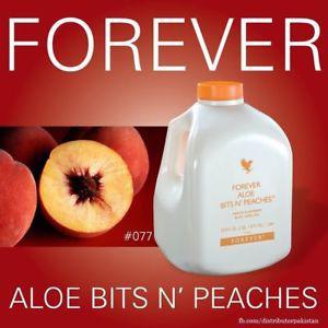 FLP Forever Living Aloe BITS N' PEACHES 1 Litre