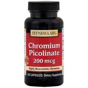 Fitness Labs Chromium Picolinate 200 Mcg, 120 Capsules