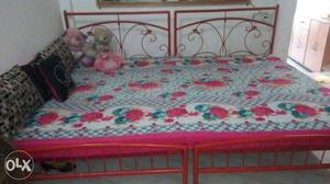 Iron Bed 6. By. 8.feet With Matteress Sleepwell