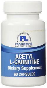 Progressive Labs Acetyl-L-Carni tine Supplement, 60 Count