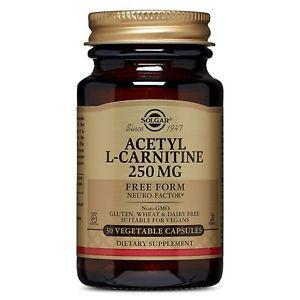 Solgar Acetyl L-Carnitine 250 mg, 30 Vegetable Capsules