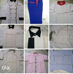 We make all type of uniform like hotel hospital