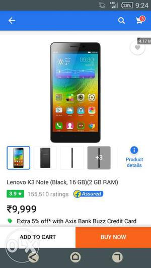 Lenovo k3 note dual 4g Full box marsmallow