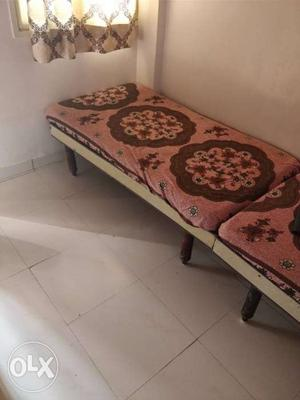 2 single bed with 2 home made gadda. 1 small